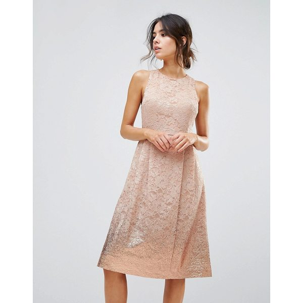 """WAREHOUSE Foil Lace Dress - """"""""Evening dress by Warehouse, Foil lace, Fully lined, Crew..."""