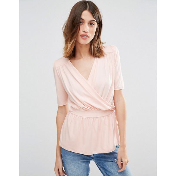 WAREHOUSE Wrap Front Top - Top by Warehouse, Lightweight fabric, Added stretch for...