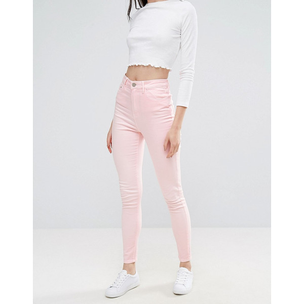 "WAVEN Anika High Rise Pink Skinny Jeans - """"Jeans by W VEN, Stretch denim, High-rise waist, Concealed..."