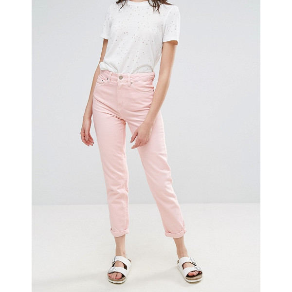 "WAVEN Elsa Pink Mom Jeans - """"Mom jeans by W VEN, Non-stretch denim, High-rise waist,..."