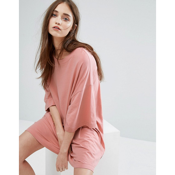 """WEEKDAY Huge T-Shirt Dress - """"""""Dress by Weekday, Cotton jersey, Crew neck, Dropped..."""