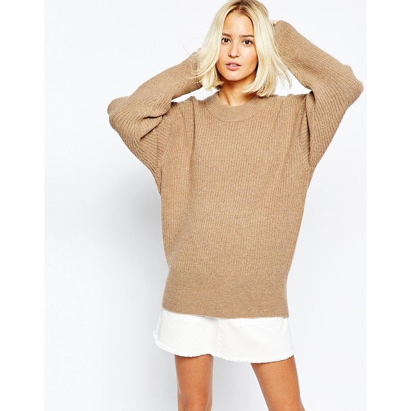 WEEKDAY Super cosy oversize knit - Knit dress by Weekday Mohair wool mix fabric Round neckline...