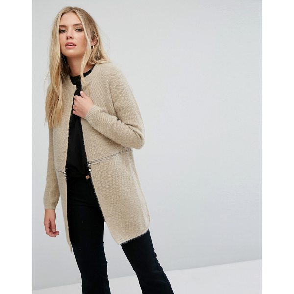 "WILD FLOWER Coatigan With Zip Detail - """"Cardigan by Wild Flower, Soft-touch knit, Textured..."