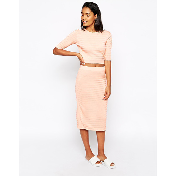 WON HUNDRED Alu tube skirt in knit co-ord - Midi skirt by Won Hundred Textured, knit fabric High-rise...