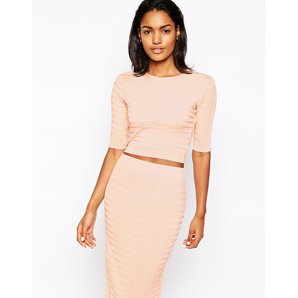 WON HUNDRED Cadence crop top in knit co-ord - Top by Won Hundred Textured, knit fabric Round neckline...