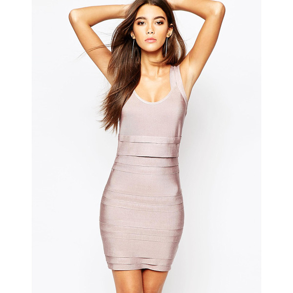WOW COUTURE Bandage double strap body-conscious dress - Body-Conscious dress by Wow Couture, Firm-stretch bandage...