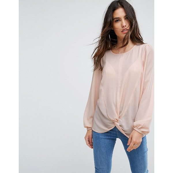 """Y.A.S Knot Top - """"""""Top by Y.A.S, Textured woven fabric, Round neck, Knot..."""