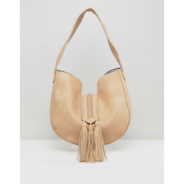 "YOKI FASHION Suede Effect Shoulder Bag - """"Cart by Yoki Fashion, Faux-leather outer, Striped lining,..."