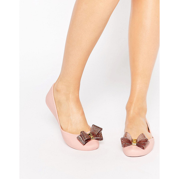 ZAXY Start glitter bow flat shoes - Shoes by Zaxy, Recyclable upper, Slip-on style, Large bow...