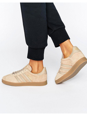 ADIDAS Adidas Originals Beige Gazelle Sneakers With Gum Sole
