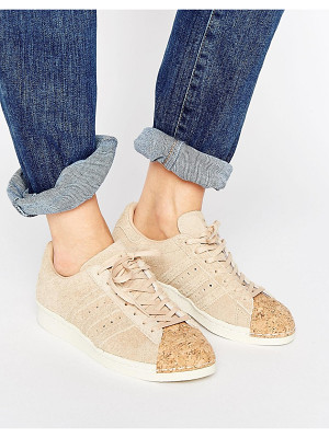 ADIDAS Adidas Originals Nude Superstar 80s Sneakers With Cork Toe Cap