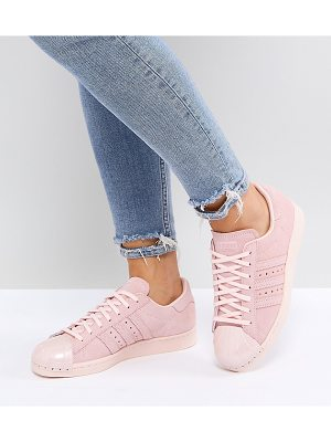 ADIDAS Pink Superstar 80s Sneakers With Metal Toe Cap