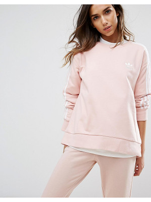 Adidas adidas Originals Pink Three Stripe Sweatshirt