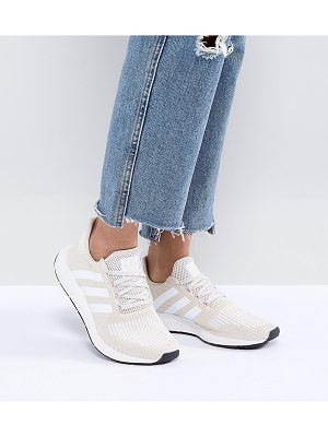 Adidas adidas Originals Swift Run Sneakers In Cream With White Stripe