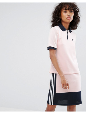 ADIDAS Adidas Osaka Polo Shirt In Pale Pink