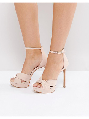 ALDO Ameline Pink Cross Front Heeled Sandals