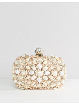 ALDO Beaded Box Clutch With Pearl Clutch Bag