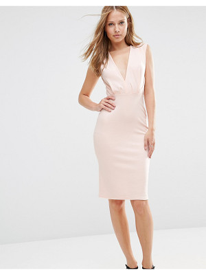 Alter V Neck Pencil Midi Dress