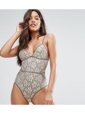 And CO And Co Gold Lace Swimsuit