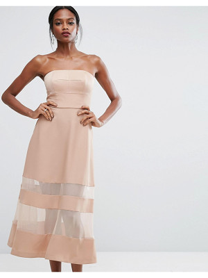 AQ/AQ AQ/AQ Bandeau Maxi Dress With Sheer Inserts