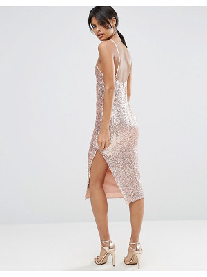 Asos 90's Sequin Cami Strappy Back Midi Dress