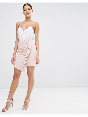 ASOS A-Line Mini Skirt With Asymmetric Ruffle