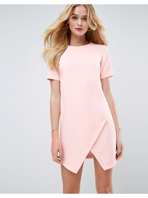 ASOS Asymmetric Clean Shift Dress With Short Sleeve