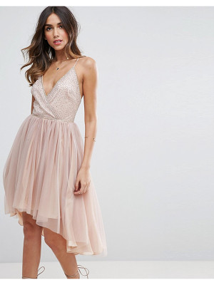 ASOS DESIGN ballerina mesh sparkle tulle midi dress
