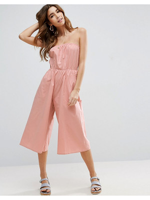 ASOS Bandeau Jumpsuit In Cotton
