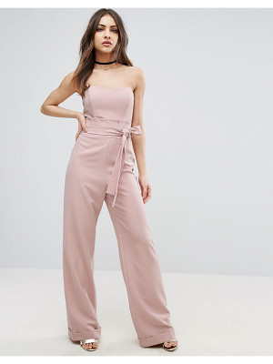 ASOS Bandeau Jumpsuit With Paperbag Waist Detail