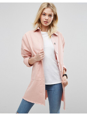 ASOS Batwing Jacket With Frayed Hem