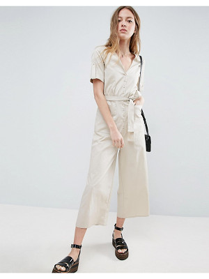 ASOS Belted Twill Jumpsuit