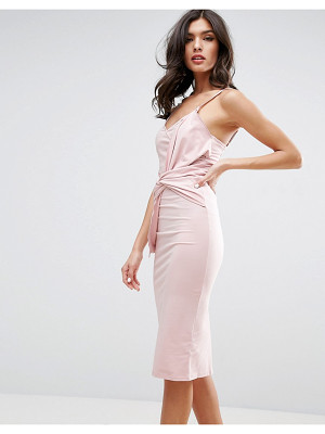 ASOS Big Bow Front Midi Bodycon Dress