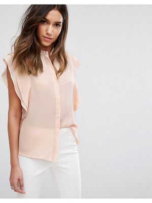 ASOS Blouse With Frill Shoulder