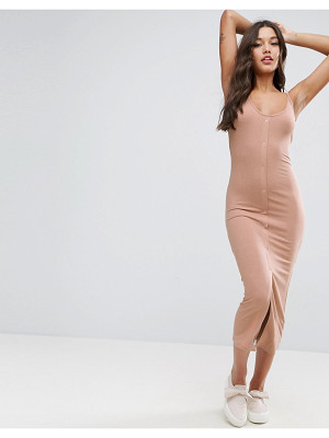 ASOS Bodycon Maxi Dress With Popper Details