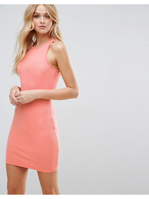 ASOS Mini Bodycon Ribbed Tank Dress With Racer Back