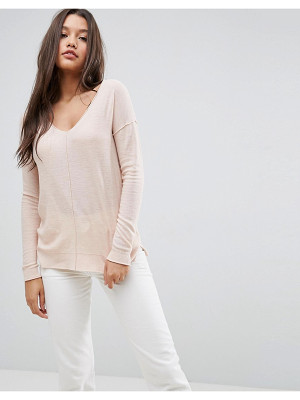 Asos Boyfriend Sweater With V Neck