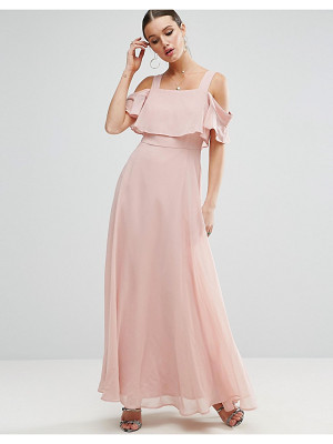 ASOS Cami Cold Shoulder Flutter Sleeve Maxi Dress