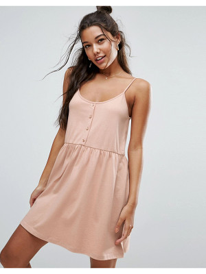 ASOS Cami Smock Dress With Button Placket