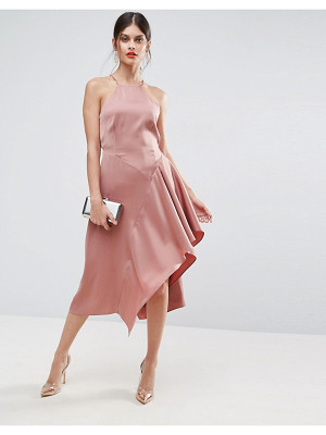 ASOS Cami Soft Drape Asymmetric Midi Dress