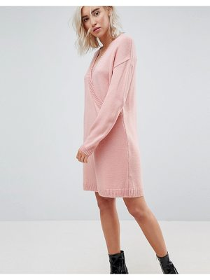 ASOS DESIGN asos chunky knitted dress with wrap detail
