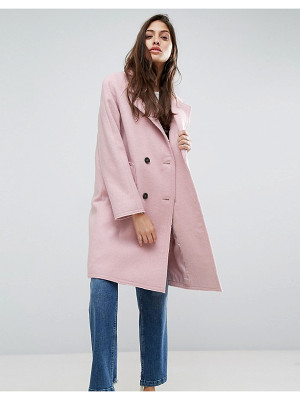 Asos Coat with Raw Edges