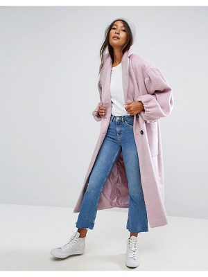 ASOS Coat With Statement Sleeve