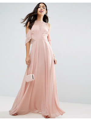 Asos Cold Shoulder Kate Lace Maxi Dress