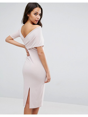 ASOS Crepe Cross Back Asymmetric Midi Dress