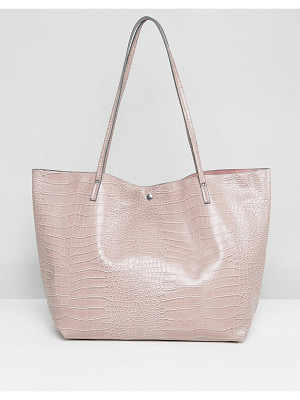 ASOS Croc Bonded Shopper Bag