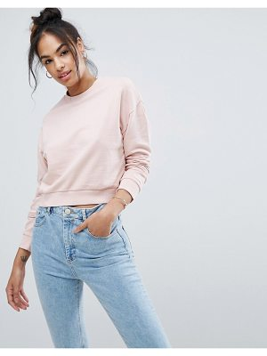 Asos Cropped Sweatshirt