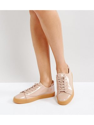 Asos DARLEY Patent Clean Lace Up Sneakers