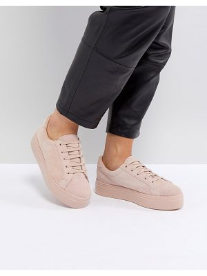 ASOS DESIGN asos day light suede lace up sneakers