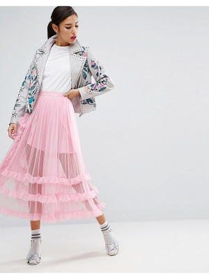 Asos Deconstructed Sheer Tulle Prom Skirt